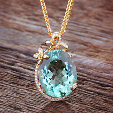 Fashion Natural GEMSTONE Green Romantic Pendant & Necklace for Women Jewelry