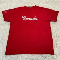 VINTAGE Fruit of the Loom Mens T Shirt XL Red Canada Spell Out Tee