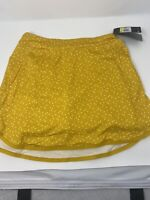 Nike Printed Golf Skirt Skort Yellow UPF 40 AV3714-743 Women's S-M new $75