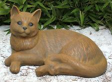 Stone Figurine Cat Decorative Garden Animal Figure Sculpture Frost Resistant
