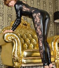 Women Lingerie PU Leather Wetlook Romper Jumpsuit Catsuit Fancy Costume Clubwear