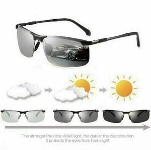 Photochromic Mens Sunglasses Sports Driving Polarized Fishing Cycling Glasses UK
