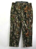 NEW Cabela's Men L Classic Fit Camo Camouflage Hunting Leaves Trees Cargo Pants