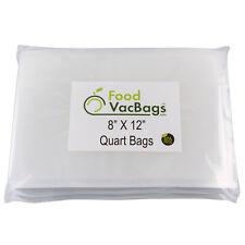 100 8X12 QUART FoodVacBags for FoodSaver machine 4mil Storage Vacuum Sealer Bags