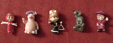 5 toys figures dolls Masha and Bear from Kinder Surprise eggs for birthday cakes