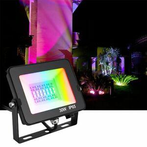 IP65 50W RGB LED Fluter Außen Strahler Flutlicht  Scheinwerfer APP Control DE