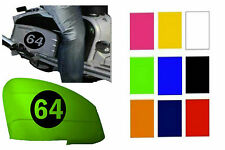 "2x Body Panel Decals 8""x 8"" Vinyl Number Sticker Decal - ANY NUMBER ANY COLOUR"
