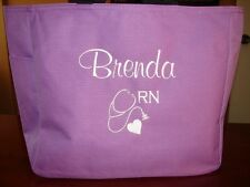 1 NURSES TOTE Bag MONOGRAM Teacher NURSE PA RN LPN MD CNA  GIFT BSN HOSPITAL