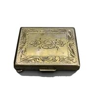 Antique Snuff Pill Trinket Box - 800 Silver - Free Shipping