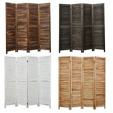 4 6 8 Panel Room Divider Privacy Screen Full Length Wood Shutters Louver