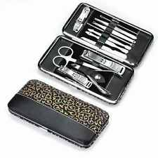 10in1 Stainless Nail Clipper Nipper Cutter Pedicure Manicure Set Beauty Kit Case