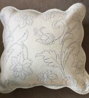 Charcoal Grey Euro Cushion Pillow Cover French Country Marcella Style 60cmsq
