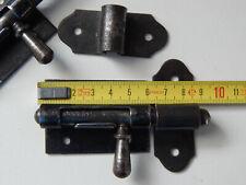 9,5cm Lot de 2 Ancien Verrou Targette avec Gâche,Loquet,Serrurerie,Clenche,Porte