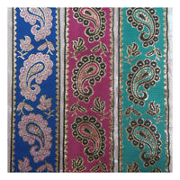 1 METRE PATTERNED 40mm  EMBROIDERED FABRIC RIBBON *3 STYLES* TRIMMING CRAFTS UK