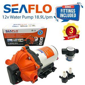 SEAFLO 12v Caravan Water Pump Marine RV Galley 18.9LPM Diaphragm Pressure 60PSI