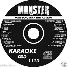 KARAOKE MONSTER HITS CD+G  MALE POP/ROCK HITS OF 2001 #1113