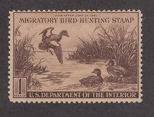 US Sc RW9 MNH. 1942 $1 Baldpates Duck Stamp, F-VF