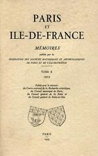 COLLECTIF, PARIS ET ILE DE FRANCE MEMOIRES - TOME X - 1959