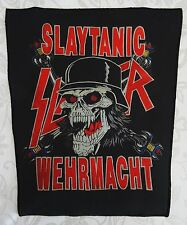 SLAYER SLAYTANIC WEHRMACHT BACKPATCH TOTAL CULT ! ANGEL OF DEATH REGIN IN BLOOD