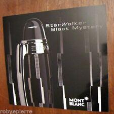 Vendo solo DEPLIANT pubblicità STARWALKER BLACK MYSTERY MONT BLANC montblanc pen