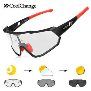 Photochromatic Cycling Glasses Full Frame Sport Sunglasses Eyewear Goggles UV400