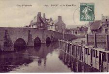CPA 50 Près Avranches Brécey Sourdeval DUCEY Le Vieux Pont Pêcheur Lavandière