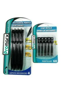 Mechanical Refillable Pencils Promarx 0.7 mm  &1 Pack 60 Lead Refills