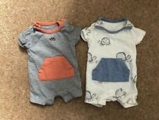 Marks and Spencer two newborn romper suits