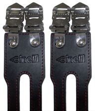 Cinelli Leather Double Bicycle Toe Straps BLACK Track Fixed Gear Bike