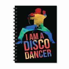 I am a Disco Dancer Notebook Wire Bound Spiral Ruled Black Diary A5 Notepad Gift