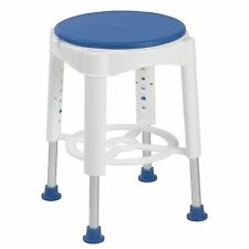 Round Shower Stool Rotating Seat Height Adjust Wetroom Bath Room Chair Non Slip