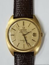 168.009 Omega Constellation 18k Yellow Gold Mens Wrist Watch Running