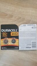 2 Piles CR2032 DURACELL Bouton Lithium 3V DL2032 DLC 2028