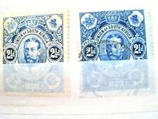 SOUTH AFRICA GEORGE V. 1910. 2.5d BLUE (2 SHADES)   LOT#17