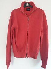 "Mens 'Hackett London' Red Zip Jacket Cardigan Sweatshirt 100% Cotton - M / 42"""