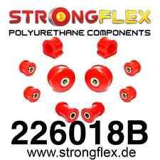 10-teiliger PU Buchsensatz für Vorderachse VW Golf 4, Bora, StrongFlex 80ShA rot