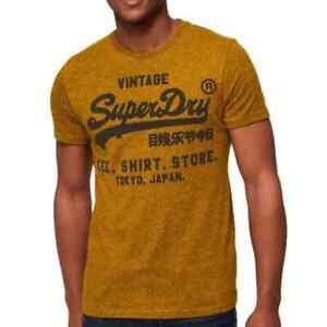 Vintage SuperDry Original Goods Store Logo T-shirt Mustard Yellow Large Japan