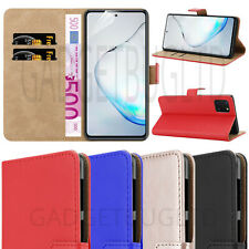 CASE FOR SAMSUNG GALAXY NOTE 10 LITE REAL GENUINE LEATHER SHOCKPROOF WALLET FLIP