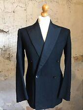 Mens Vintage Double Breasted Dinner Jacket Suit Size 40 38 (DJ239)