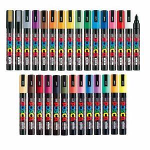 Uni Posca Paint Marker FULL RANGE Bundle Set , Mitsubishi Poster Colour ALL COLO
