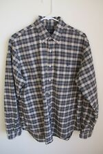 Ralph Lauren Men's Button Down Long Sleeve Shirt Navy Plaid sz Lg.