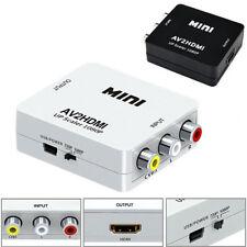 RCA AV to HDMI Converter /Adapter For Gamecube Nintendo Sega Genes NES SNES N64