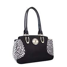 Leather Bag, Genuine Leather Handbag, Panthera, Snow Leopard Print, Serenade Bag