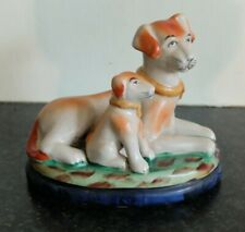 More details for old staffordshire  hand-painted jordan tout court 1897 dogs figurine