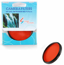Camera 49mm Full Orange COLOR Filter Lens Sunset Effect M49 For Canon Nikon Sony