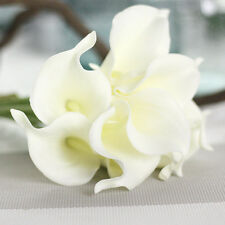 10x Real Touch PU Calla Lily Wedding Bridal Bouquet Flowers Home Party Decor.cm