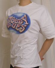 THE MOODY BLUES World Tour 2004 White T-Shirt w/ 43 Cities listed on back