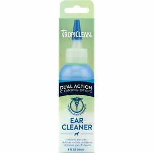 TropiClean Dual Action Ear Cleaner for Pets - Cleansing & Drying - Reduces Od...