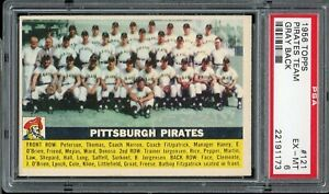1956 Topps Baseball #121 Pirates Team PSA 6
