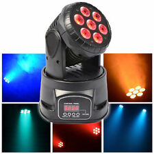 70W Stage Lighting RGBW 7 LED Moving Head Wash Lights Disco DJ Party Beam Light